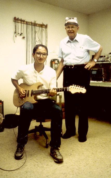 Alberto Biraghi con Leo Fender